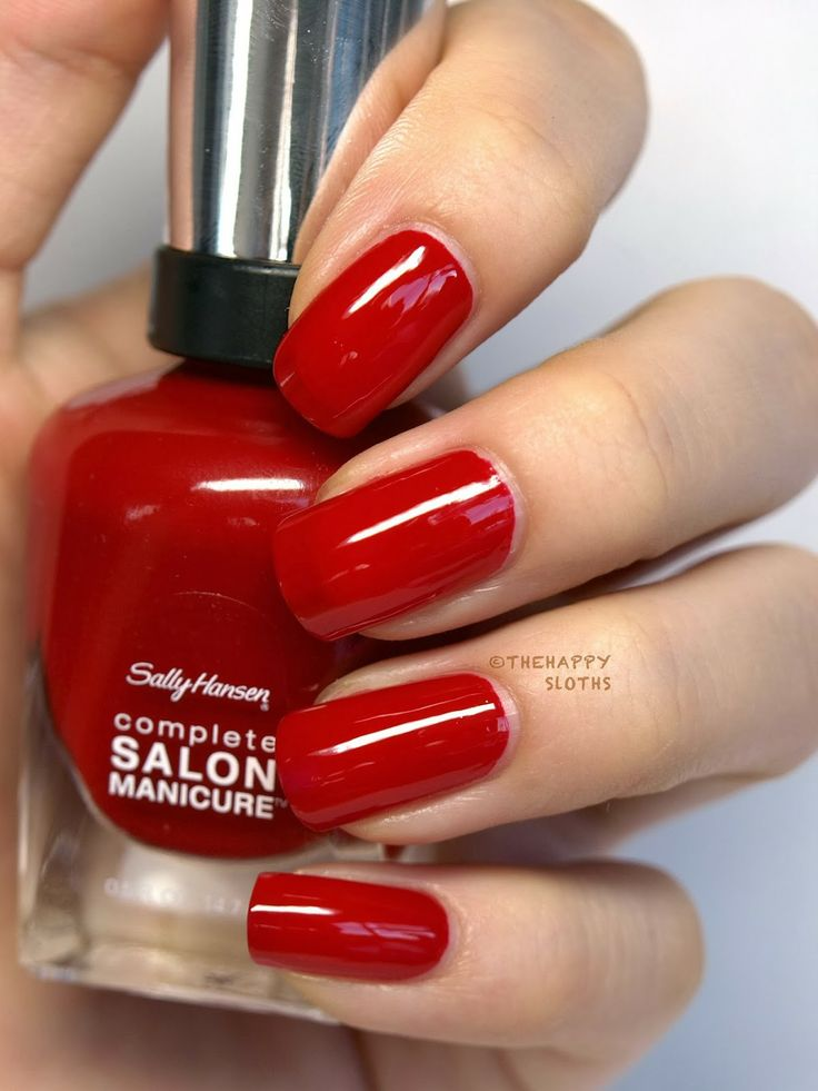 sally hansen complete salon manicure nail red my lips. Black Bedroom Furniture Sets. Home Design Ideas