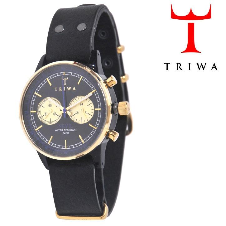 TRIWA(トリワ)×Tarnsjons 腕時計 Blue Raven Nevil ブラック×ゴールド【送料無料】 wc-triwa-056
