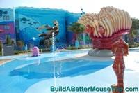 Schoolyard Spray Ground at Disney's Art of Animation Resort.  http://www.buildabettermousetrip.com/disneys-art-of-animation #Disneyworld #FindingNemo