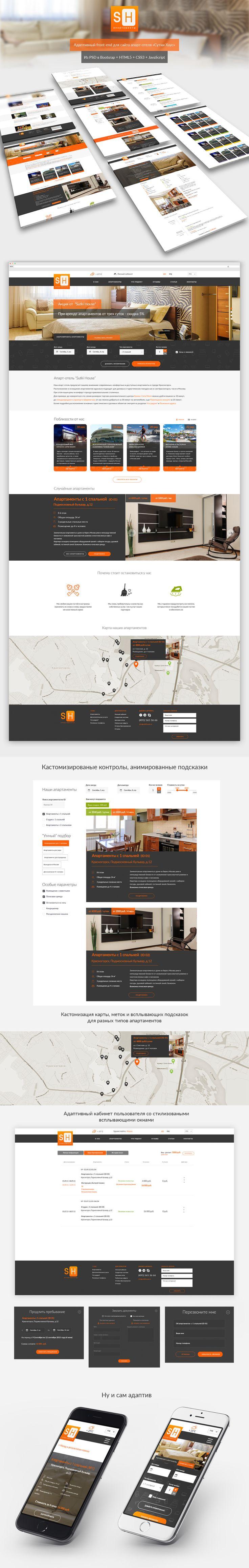 Веб-разработка адаптивного портала для отеля — Работа №2 — Портфолио фрилансера Наталья Мирошина (N_Miroshyna)