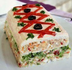 Sandwichón navideño con carnes frías para sorprender a tu familia