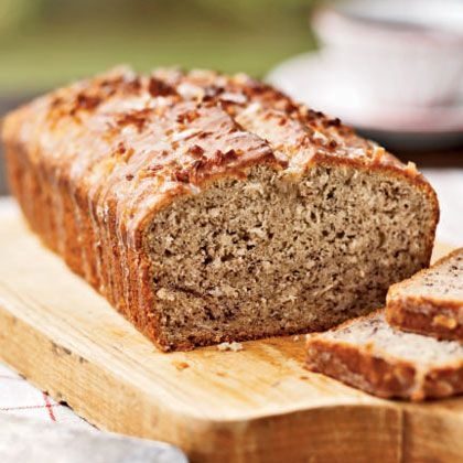 Coconut Banana Bread with Lime Glaze | MyRecipes