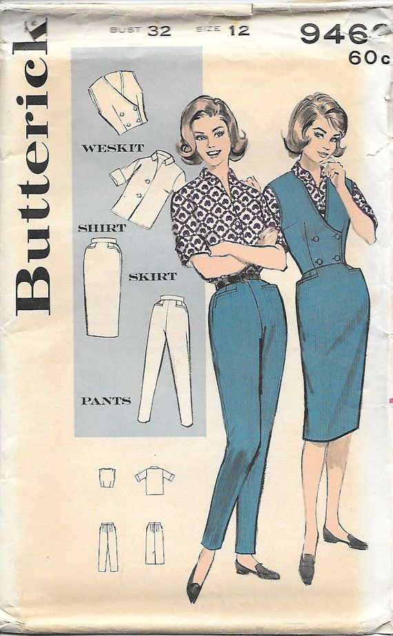 Butterick 9469 1960s Outfit Maker Vintage by GrandmaMadeWithLove