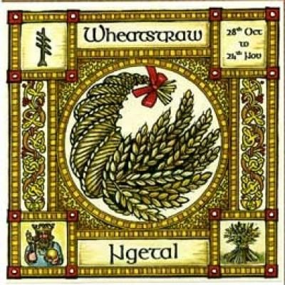Wheatstraw, Ogham name Ngetal, rules 28th October to 24th November. As our ancestors developed agriculture and became farmers, so the Wheatstraw became the symbol of kingship, and the fleeting power, and sacrifice demanded of rulers for the wellbeing of their people