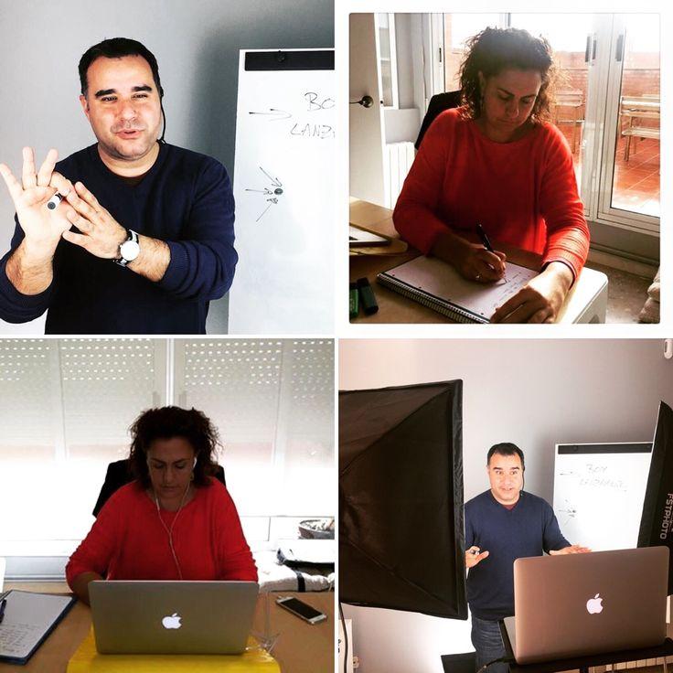 En plena formación para  #exit-on hoy presentamos la plataforma y como va a ser una base importante de formación online para todo el mundo !  www.sofiayoscar.net/box