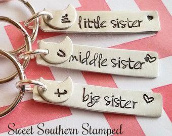 Sisters Keychain Set - Big, Middle, Little Sister - Edit Listing - Etsy