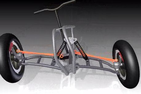 reverse trike tilting mechanism