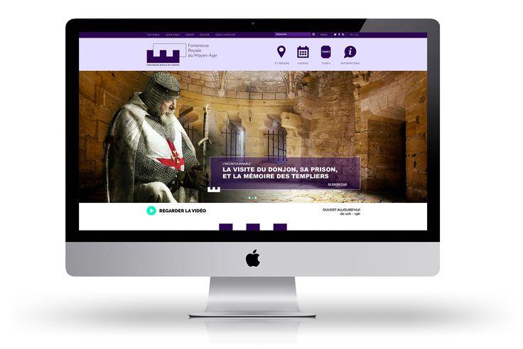 Forteresse Royale de Chinon - Proposition de webdesign