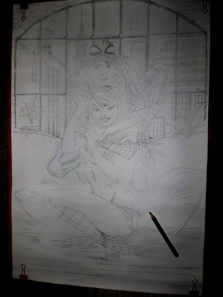 Spider Man & Gwen Sketch