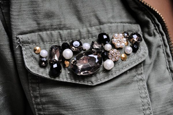 DIY Embellished Military Jacket with tutorial
