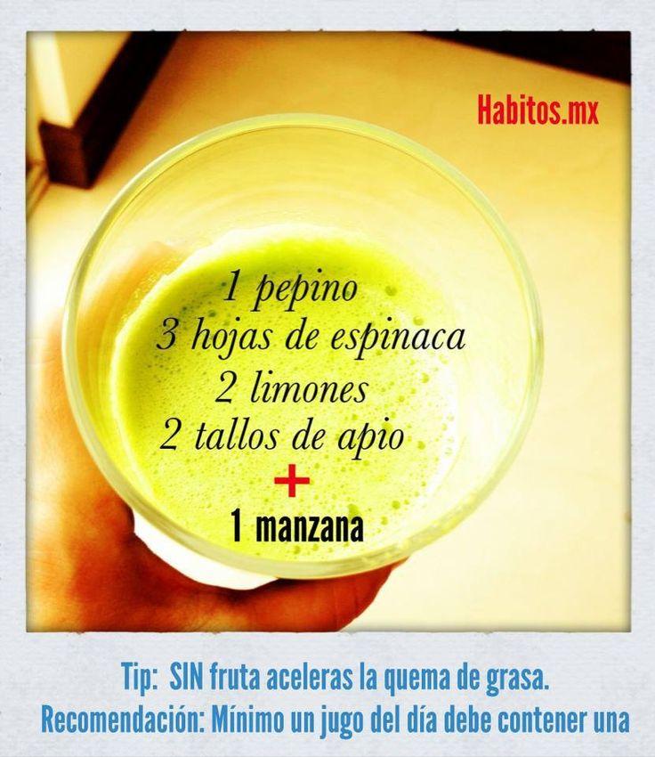 Jugo quema grasa | Detox | Pinterest | Smoothie, Detox and