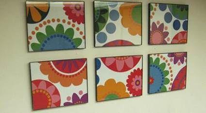 cuadros hechos con tela tejidos and tela