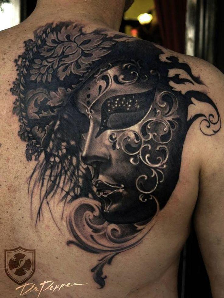 venetian mask tattoo - Google Search