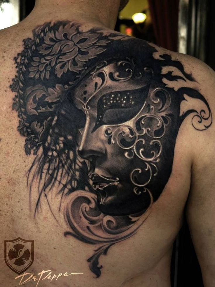 venetian mask tattoo - Google Search