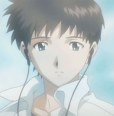Shinji Ikari The protagonist of Neon Genesis Evangelion. Pilot of Eva Unit-01. Has a distance personalty and is unable to express his true feelings around his fellow peers. He only accepts orders to prevent from being alienated. The son of NERV commander Gendo Ikari and late mother Yui Ikari.