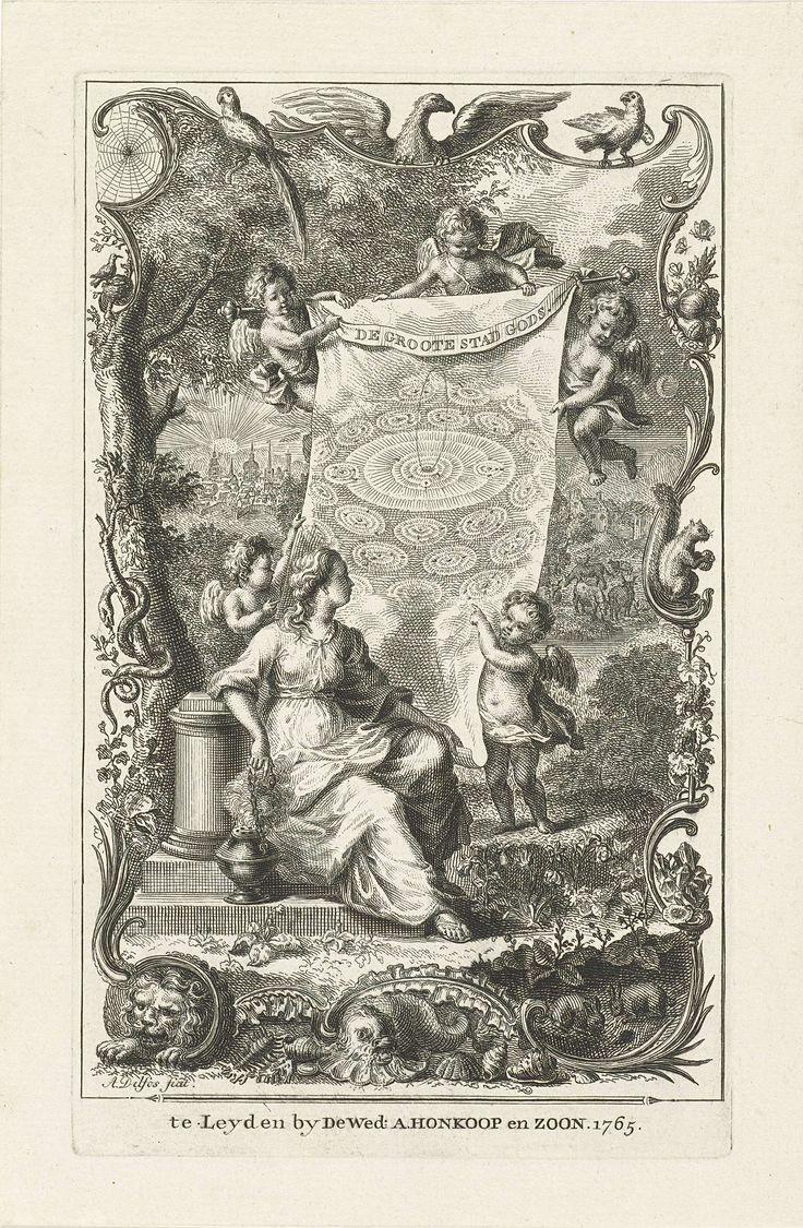 Allegorie op het hemelse Jeruzalem, Abraham Delfos, 1765