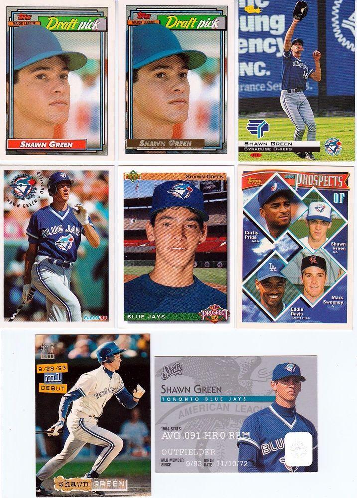 Huge 50 + different SHAWN GREEN cards lot 3 RC 1993 - 2007 Dodgers DBacks Mets #LosAngelesDodgers