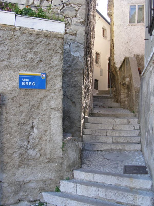 Street for fit people  in Bakar, Croatia :)