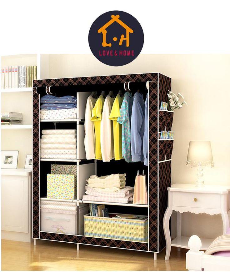 Zipper Fashion Storage Wardrobe | LazadaPH