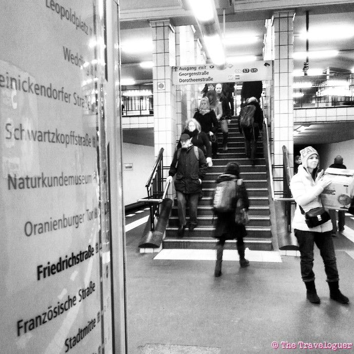 Friedrichstrasse Station, Berlin - Monochrome Monday thetraveloguer.com