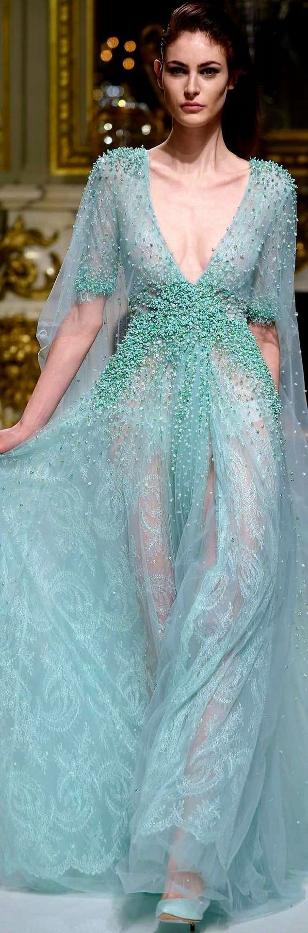 Elie Saab HC... Love the shape of this for a wedding dress template