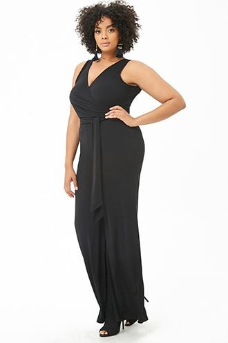 10f7f032943 Plus Size Belted Wide-Leg Jumpsuit in 2018