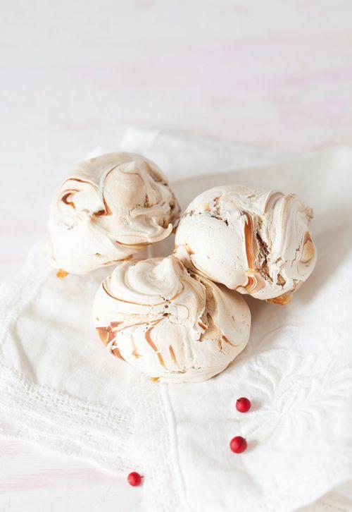 """Christmas Cookies #6:""""Zebras""""- Marbled Meringue"""