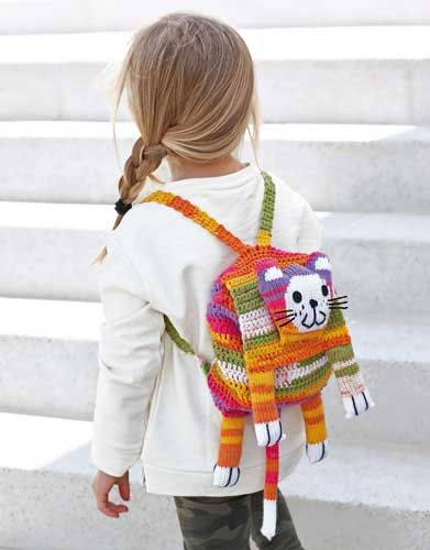 Book extra 1 Autumn / Winter | 150: Kids Backpack | Orange-Rose-Lilac