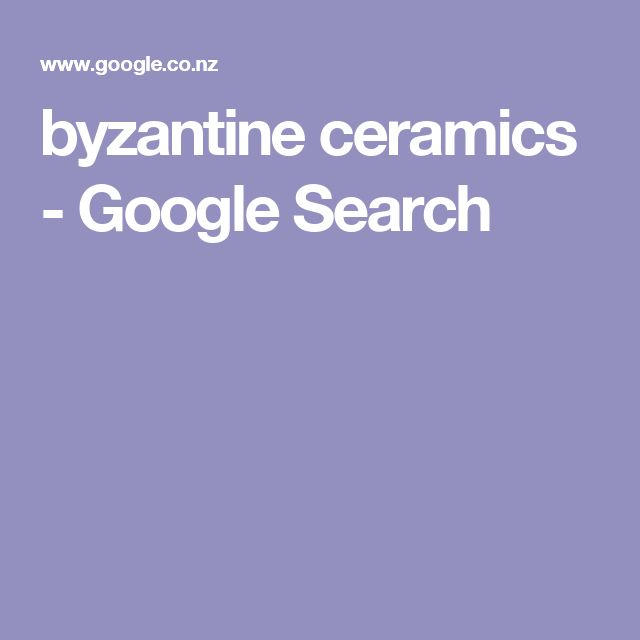 byzantine ceramics - Google Search