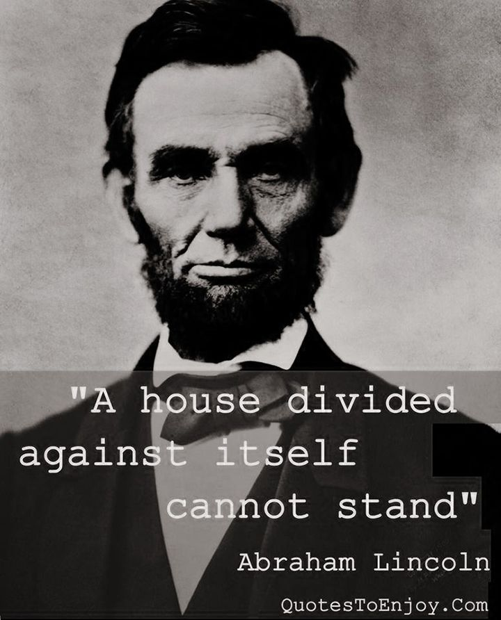 Abraham Lincoln Divide Quotes