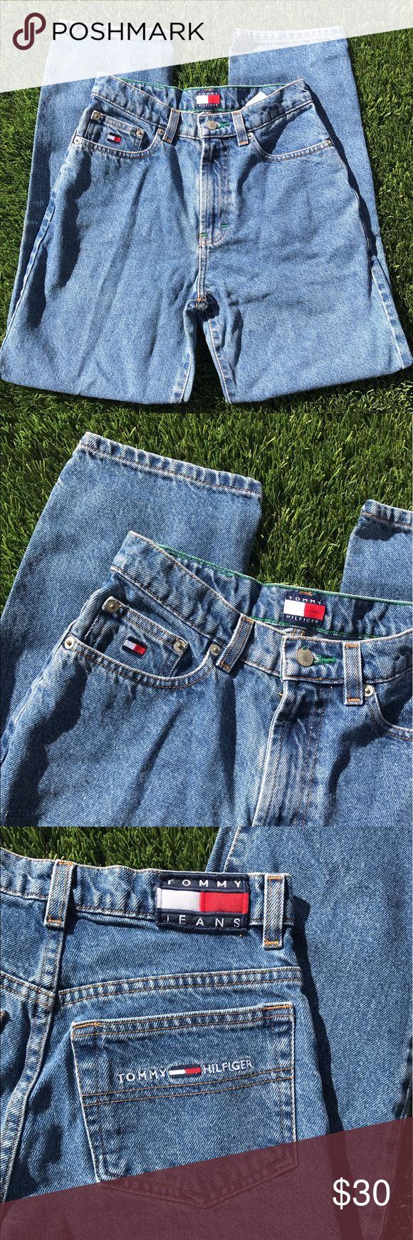 Vintage Tommy Hilfiger jeans size 10 kids Vintage great condition can also be cut into shorts Tommy Hilfiger Bottoms Jeans