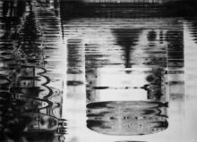 Elena Bisoglio,  Speculum Animae, 2017,  carboncino su cartonlegno, cm 50x70