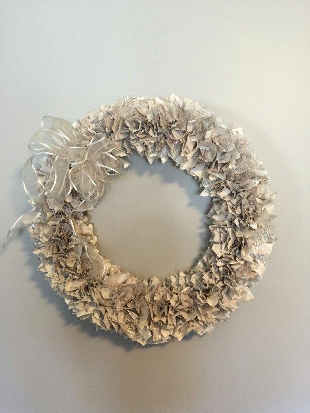 Book page wreath - Styrofoam wreath form base