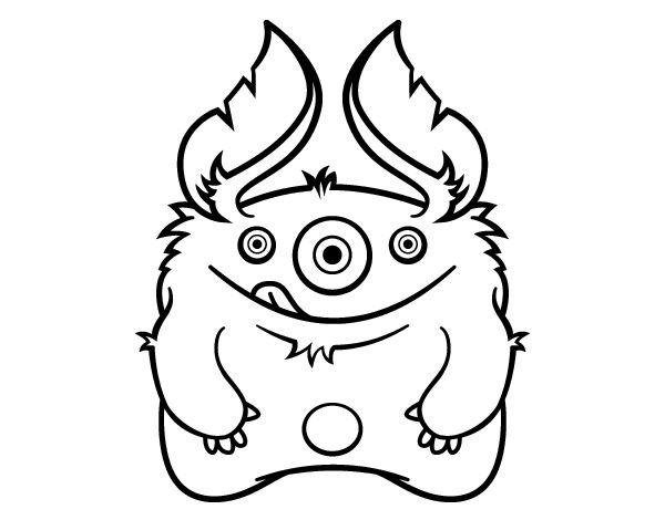 Dibujo De Dinosaurio Monstruoso Para Colorear: 15 Best Images About Dibujos De Monstruos Para Colorear On