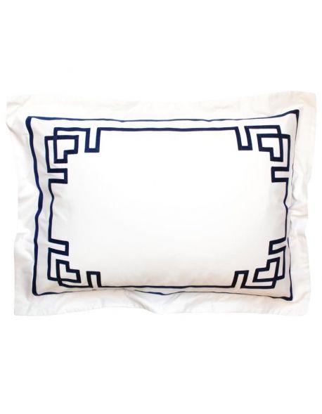 Taie d 39 oreiller rectangulaire blue night n 17 en satin de coton fabriqu - Televiseur fabrique en france ...