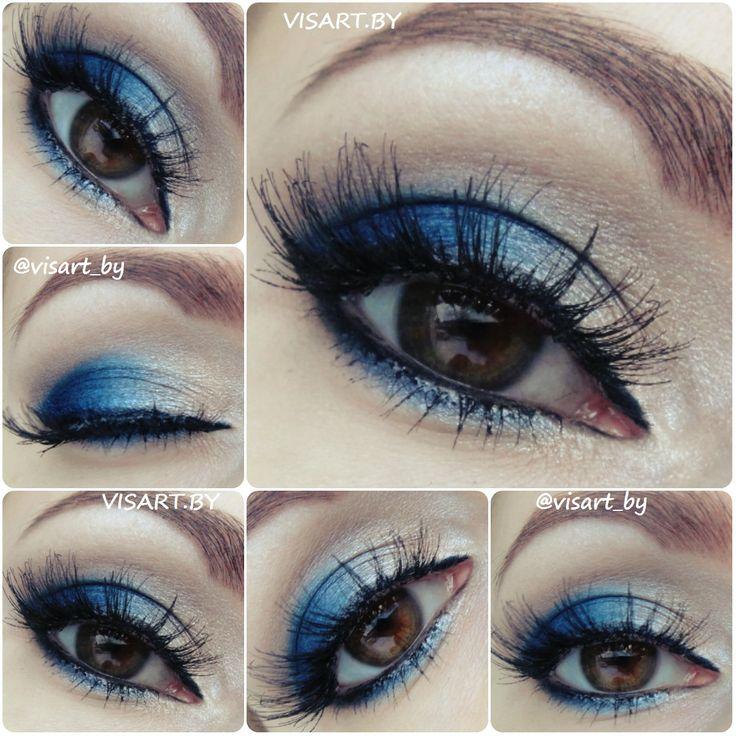 Вечерний сине-бежевый макияж глаз с палеткой Bad Girl от Sleek и накладными ресницами Ardell #ardell #sleek #badgirl #mua #makeup #makeupideas #bbloggers #flawless #makeupartist #makeupmafia #glamour #makeupaddicted #makeupeyes  #макияж #макияжглаз #макияжминск #макияждлясебя #макияждня #макияждляфотосессии #вечерниймакияж #красивыймакияж #бьютиблог #визажист #буднивизажиста www.visart.by