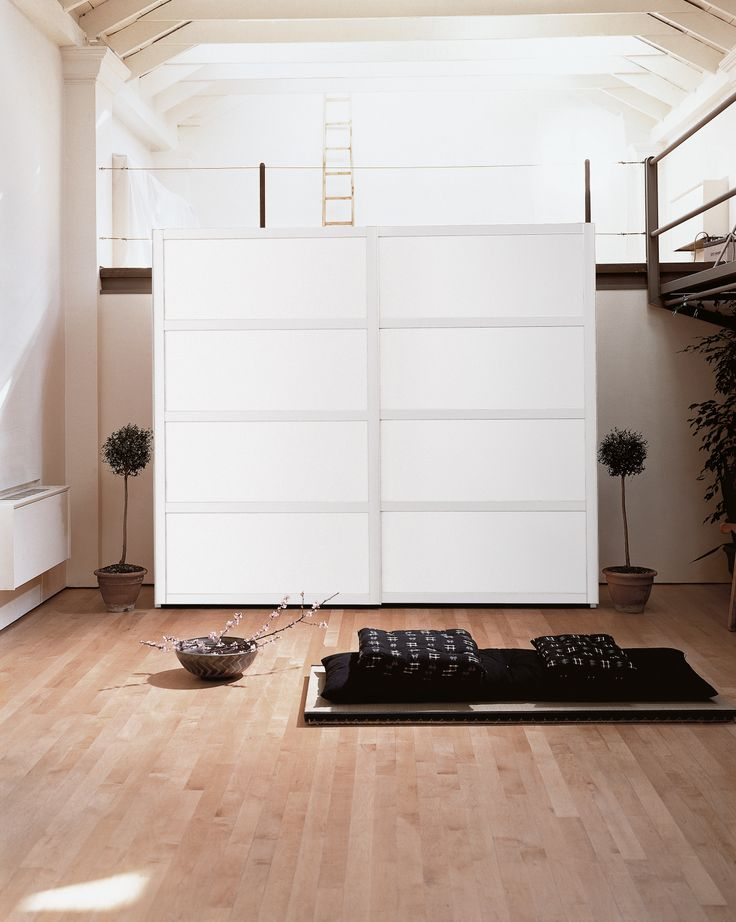 #Wardrobe with sliding doors YOSHIDA by EmmeBi | #Design Pietro Arosio #interiors #japanese #wood #minimal