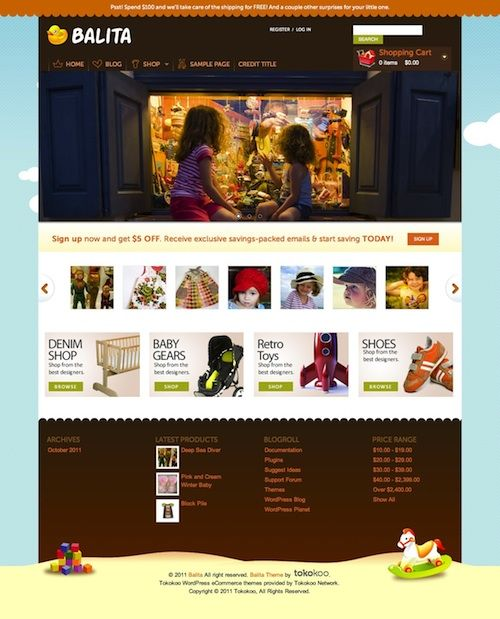 Balita Free E-Commerce WordPress Theme