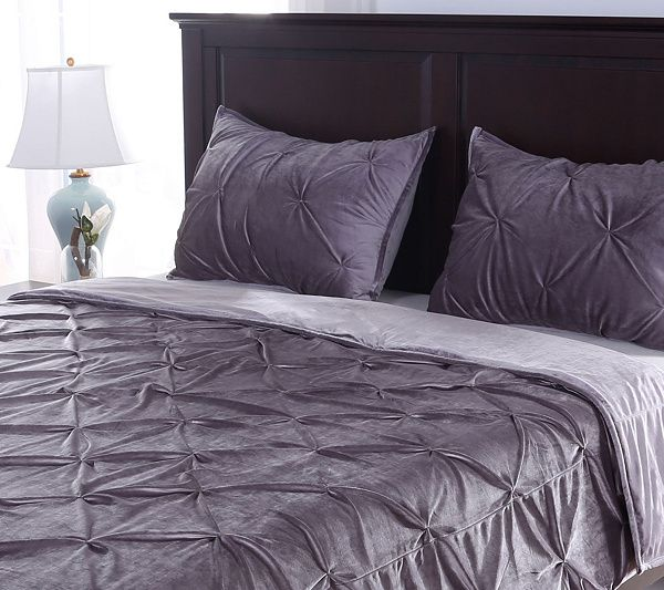 Bundle up in the supreme softness of this Velvet Soft pintuck coverlet and shams set. From Berkshire Blanket. QVC.com