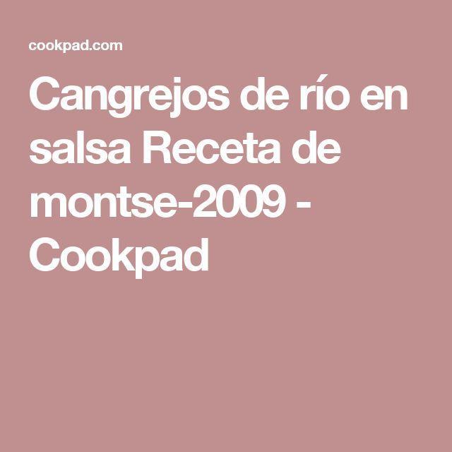 Cangrejos de río en salsa Receta de montse-2009 - Cookpad