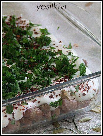 yoğurtlu barbunya salatası