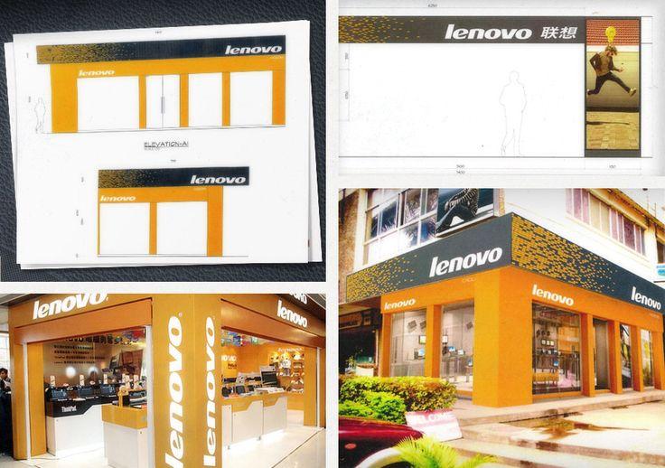 Lenovo retail store exterior design arch facade for Shop exterior design