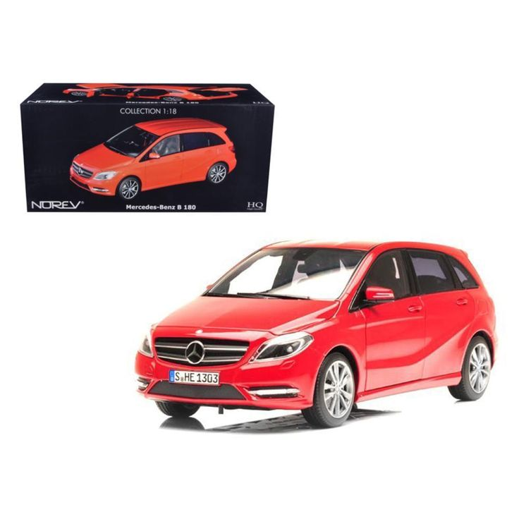 2011 Mercedes B180 Red 1-18 Diecast Car Model by Norev