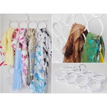 Scarf Holder Hanger Tie Organiser Storage Solution 28 Circles