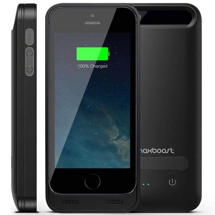 Iphone Battery Charging Case 5 5s External Protective Backup Power Bank Charger #Maxboost