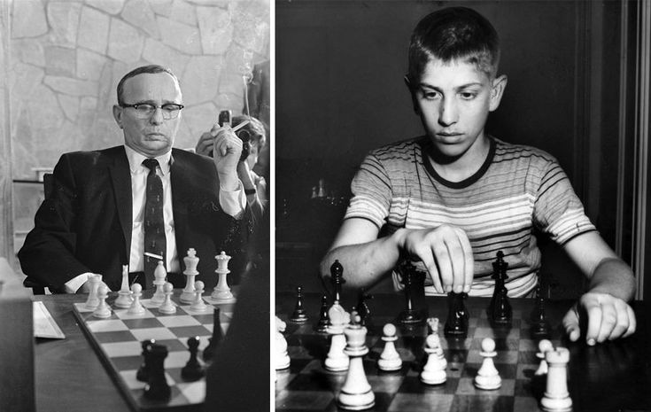 Samuel Reshevsky Candidates tournament 1968 and Bobby Fischer in 1957