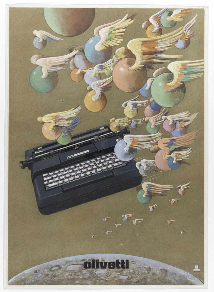 "ПЛАКАТ, ""ОЛИВЕТТИ"", 1976 Милтон Глейзер."