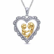 Mother Child Heart Pendant
