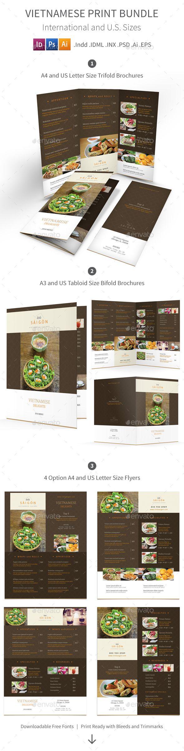 Vietnamese Restaurant Menu Print Bundle 2 — Photoshop PSD #menu #eastern • Available here → https://graphicriver.net/item/vietnamese-restaurant-menu-print-bundle-2/15578345?ref=pxcr