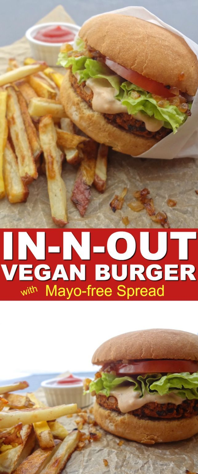One bite of this homemade Copycat In-N-Out Vegan Burger with Spread will have anyone questioning its authenticity.